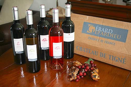 Carton de vins de Gérard Depardieu