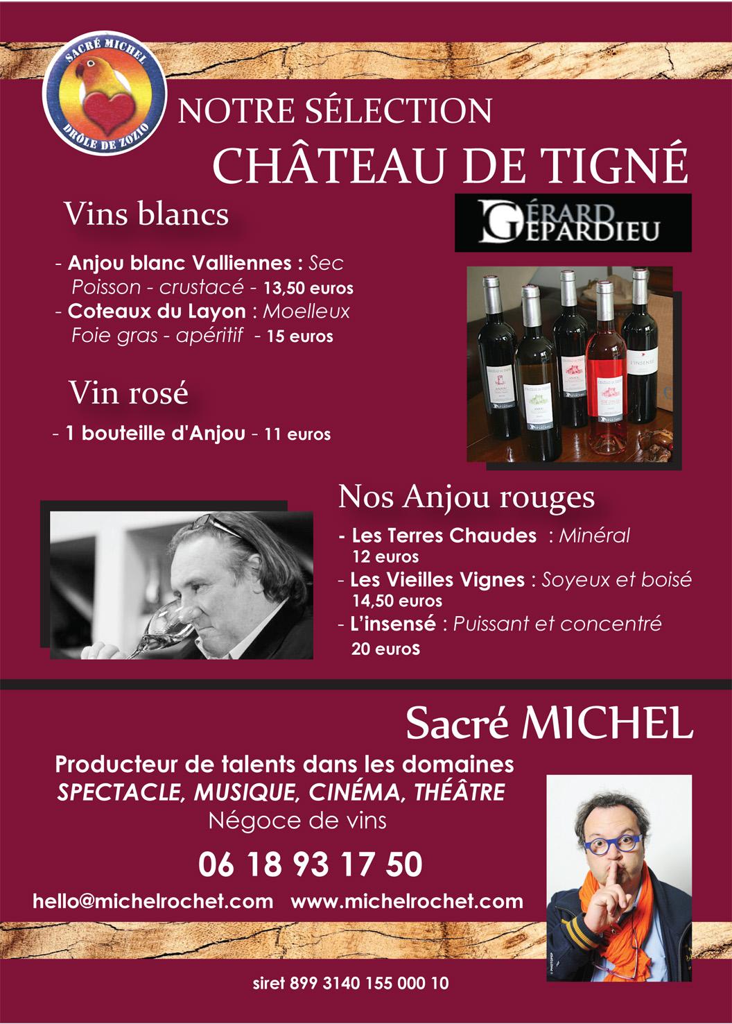 flyer vins de Gérard Depardieu